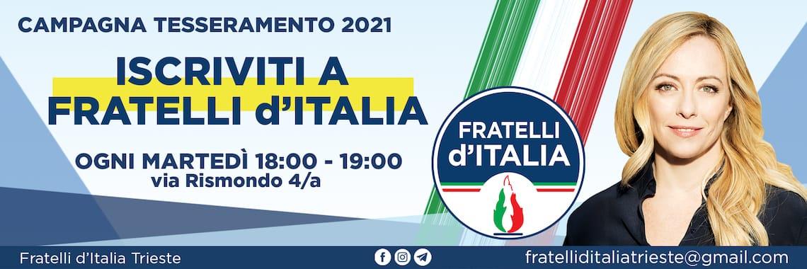 tesseramento fratelli italia 2021
