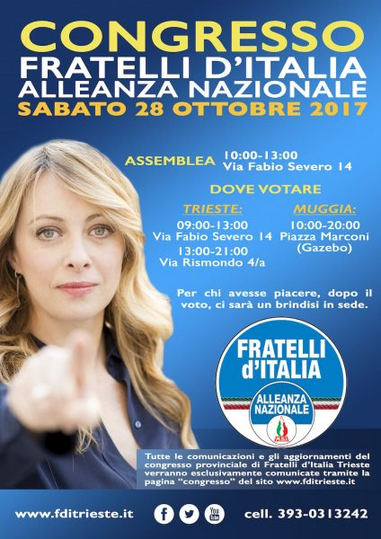 Locandina Congresso Trieste Fratelli d'Italia 2017